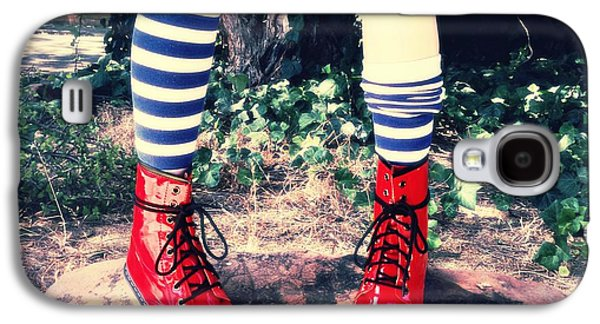 Alice In Wonderland Galaxy S4 Cases - Boots Of Glory Galaxy S4 Case by Kelly Jade King