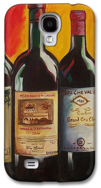 Wine Art Paining Galaxy S4 Cases - Bordeaux Galaxy S4 Case by Sheri  Chakamian