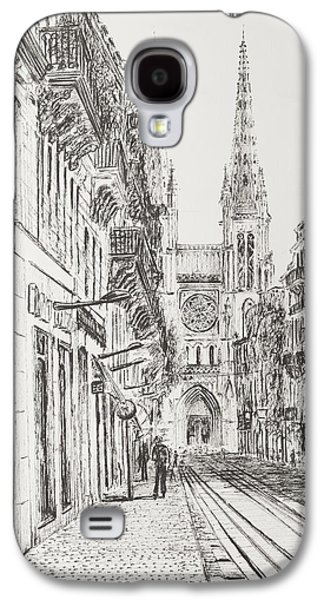 Church Drawings Galaxy S4 Cases - Bordeaux Galaxy S4 Case by Vincent Alexander Booth