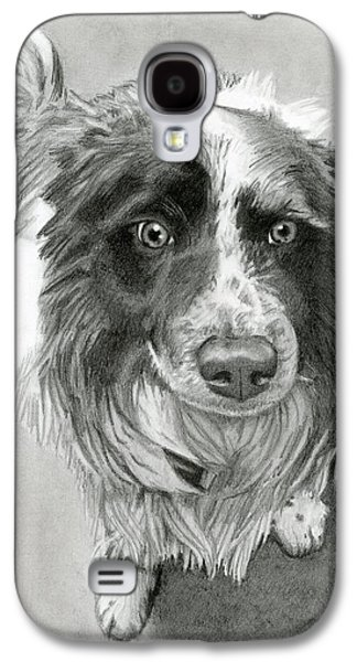 Puppies Galaxy S4 Cases - Border Collie Galaxy S4 Case by Sarah Batalka