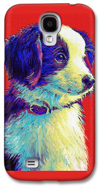 Border Collie Puppy Galaxy S4 Case by Jane Schnetlage