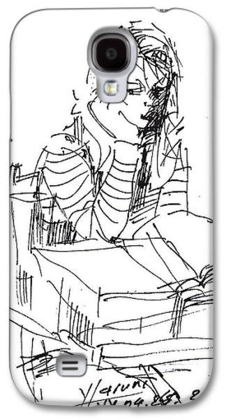Girl Galaxy S4 Cases - Bored Galaxy S4 Case by Ylli Haruni
