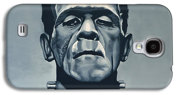 Monster Galaxy S4 Cases - Boris Karloff as Frankenstein  Galaxy S4 Case by Paul  Meijering