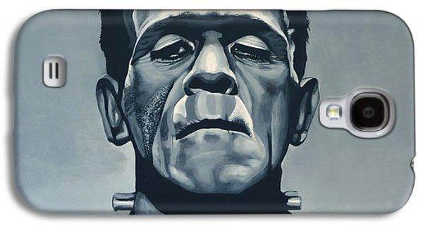 Scarface Galaxy S4 Cases - Boris Karloff as Frankenstein  Galaxy S4 Case by Paul Meijering