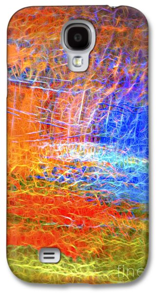 Recently Sold -  - Abstract Digital Photographs Galaxy S4 Cases - Celebration of Fire Galaxy S4 Case by Norman Gabitzsch