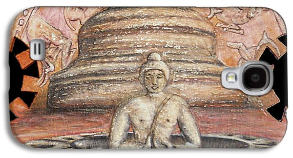 Buddhism Reliefs Galaxy S4 Cases - Borobudur Galaxy S4 Case by Anna Maria Guarnieri