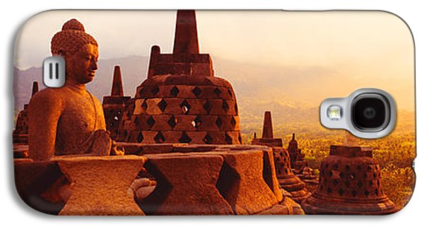 Cosmological Galaxy S4 Cases - Borobudur Buddhist Temple Java Indonesia Galaxy S4 Case by Panoramic Images