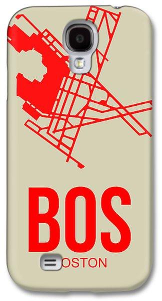 City. Boston Galaxy S4 Cases - BOS Boston Airport Poster 1 Galaxy S4 Case by Naxart Studio
