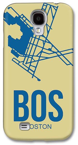 City. Boston Galaxy S4 Cases - BOS Boston Airport Poster 3 Galaxy S4 Case by Naxart Studio