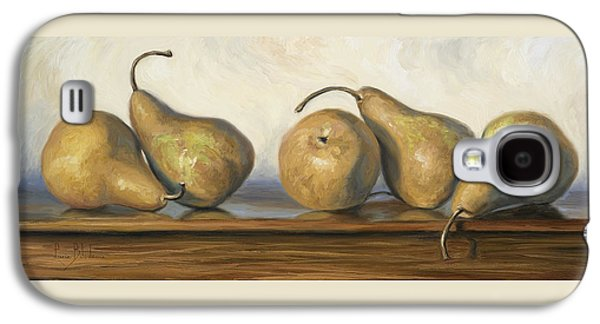 """""""indoor"""" Still Life Paintings Galaxy S4 Cases - Bosc Pears Galaxy S4 Case by Lucie Bilodeau"""