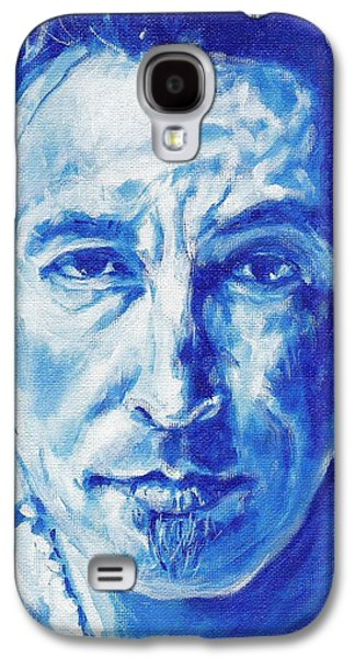 Bruce Springsteen Paintings Galaxy S4 Cases - Boss In Blue Galaxy S4 Case by Paul Smutylo