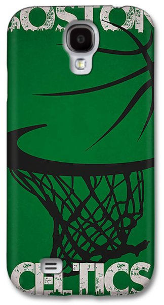 Boston Celtics Galaxy S4 Cases - Boston Celtics Hoop Galaxy S4 Case by Joe Hamilton