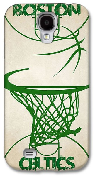 Boston Celtics Galaxy S4 Cases - Boston Celtics Court Galaxy S4 Case by Joe Hamilton