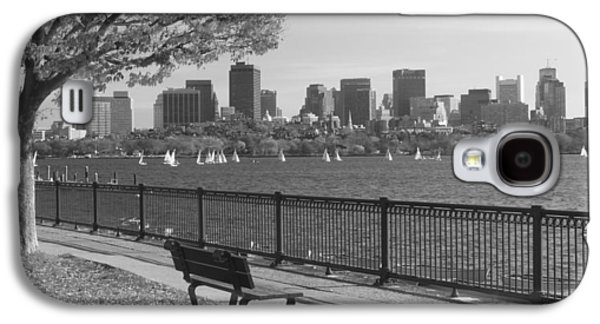 Charles River Galaxy S4 Cases - Boston Charles River black and white  Galaxy S4 Case by John Burk