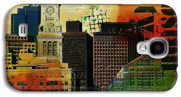 Boston Paintings Galaxy S4 Cases - Boston City Collage 2 Galaxy S4 Case by Corporate Art Task Force