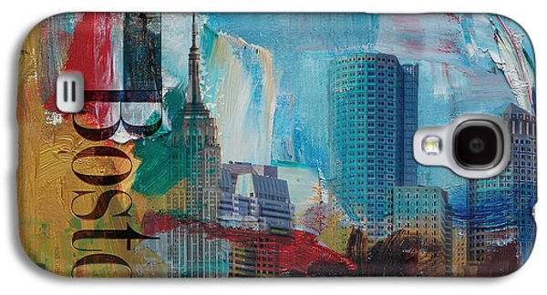 Digital Paintings Galaxy S4 Cases - Boston City Collage 3 Galaxy S4 Case by Corporate Art Task Force
