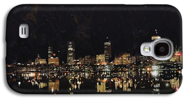 Boston Paintings Galaxy S4 Cases - Boston City Skyline 2 Galaxy S4 Case by Corporate Art Task Force