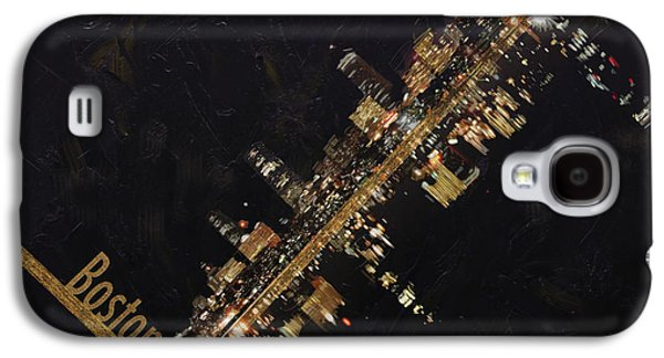Boston Paintings Galaxy S4 Cases - Boston City Skyline Galaxy S4 Case by Corporate Art Task Force