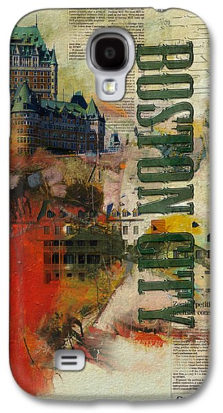 Boston Paintings Galaxy S4 Cases - Boston Collage Galaxy S4 Case by Corporate Art Task Force