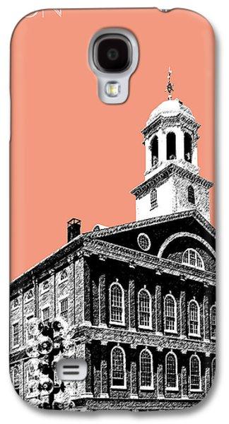 Boston Faneuil Hall - Salmon Galaxy S4 Case by DB Artist