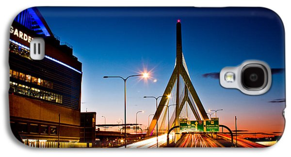 Strong America Galaxy S4 Cases - Boston Garden and Bunker Hill Bridge  Galaxy S4 Case by John McGraw