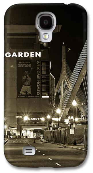Boston Celtics Galaxy S4 Cases - Boston Garder and Side Street Galaxy S4 Case by John McGraw