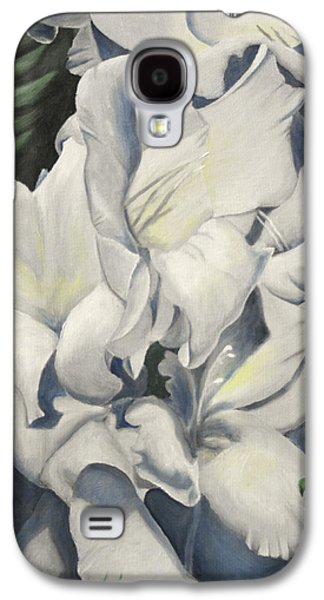 Gladiolas Paintings Galaxy S4 Cases - Boston Gladiola Galaxy S4 Case by Craig Frankowski