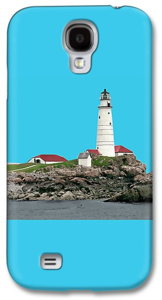 Boston Harbor Lighthouse Galaxy S4 Case by Elaine Plesser