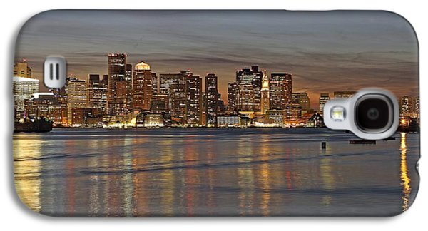 Home Improvement Galaxy S4 Cases - Boston Harbor Skyline Reflection Galaxy S4 Case by Juergen Roth