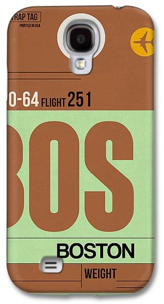 City. Boston Galaxy S4 Cases - Boston Luggage Poster 1 Galaxy S4 Case by Naxart Studio