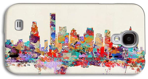Boston Paintings Galaxy S4 Cases - Boston Massachusetts Skyline Galaxy S4 Case by Bri Buckley