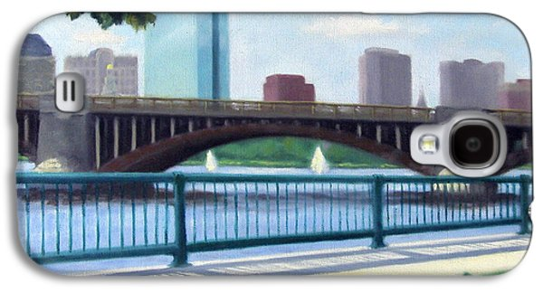 Red Sox Paintings Galaxy S4 Cases - Boston on the Charles River Galaxy S4 Case by Rosemarie Morelli