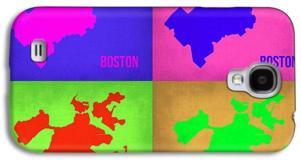 City. Boston Galaxy S4 Cases - Boston Pop Art Map 1 Galaxy S4 Case by Naxart Studio