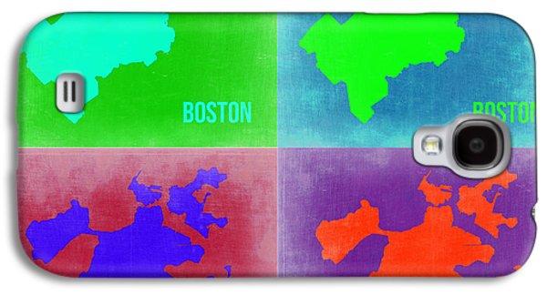 City. Boston Galaxy S4 Cases - Boston Pop Art Map 2 Galaxy S4 Case by Naxart Studio
