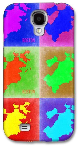City. Boston Galaxy S4 Cases - Boston Pop Art Map 3 Galaxy S4 Case by Naxart Studio