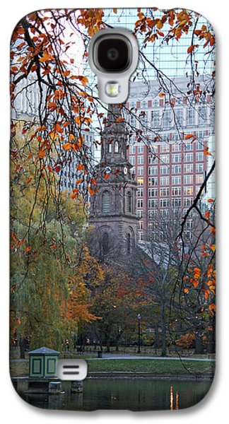Architecture Framed Prints Galaxy S4 Cases - Boston Public Garden in Autumn Galaxy S4 Case by Kathy Yates