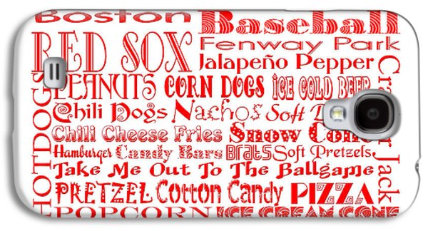 Red Sox Art Galaxy S4 Cases - Boston Red Sox Game Day Food 3 Galaxy S4 Case by Andee Design