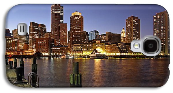 Best Sellers -  - Business Galaxy S4 Cases - Boston Skyline and Fan Pier Galaxy S4 Case by Juergen Roth
