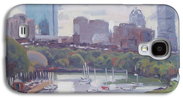 Charles River Paintings Galaxy S4 Cases - Boston Skyline Galaxy S4 Case by Dianne Panarelli Miller