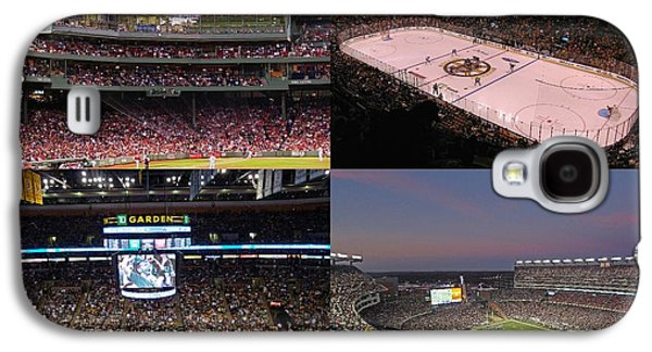 Action Photographs Galaxy S4 Cases - Boston Sports Teams and Fans Galaxy S4 Case by Juergen Roth