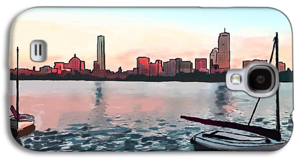 Charles River Paintings Galaxy S4 Cases - Boston Sunset On The Charles Galaxy S4 Case by Michael Hodgson