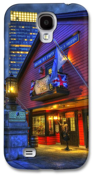 Gas Lamp Photographs Galaxy S4 Cases - Boston Tea Party Museum at Night Galaxy S4 Case by Joann Vitali