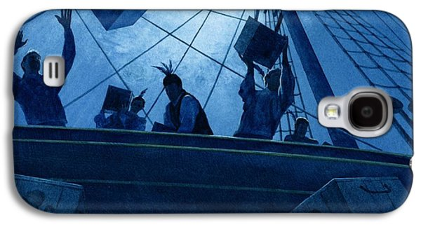 Boston Paintings Galaxy S4 Cases - Boston Tea Party Galaxy S4 Case by Rob Wood