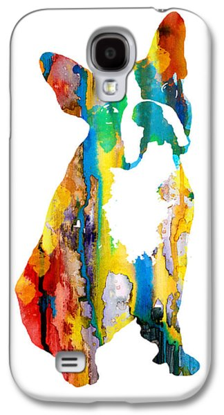 Boston Paintings Galaxy S4 Cases - Boston Terrier 3 Galaxy S4 Case by Luke and Slavi