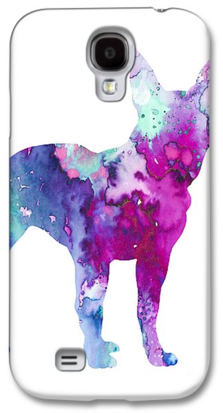 Boston Paintings Galaxy S4 Cases - Boston Terrier 4 Galaxy S4 Case by Luke and Slavi
