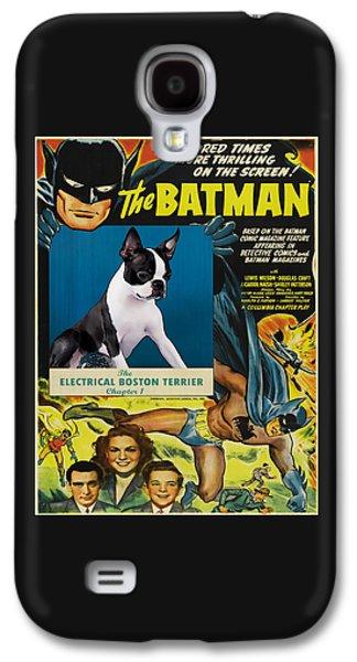 Boston Paintings Galaxy S4 Cases - Boston Terrier Art - Batman Movie Poster Galaxy S4 Case by Sandra Sij