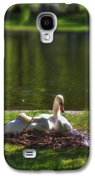 Swan Pair Galaxy S4 Cases - Bostons Romeo and Juliet Swans Galaxy S4 Case by Joann Vitali