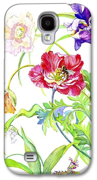 Pollinate Galaxy S4 Cases - Botanical print Galaxy S4 Case by Kimberly McSparran