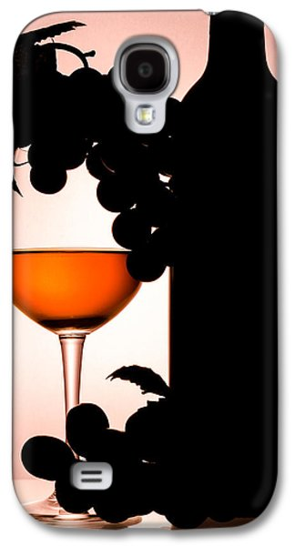 Red Abstract Ceramics Galaxy S4 Cases - Bottle and Wine glass Galaxy S4 Case by Sirapol Siricharattakul
