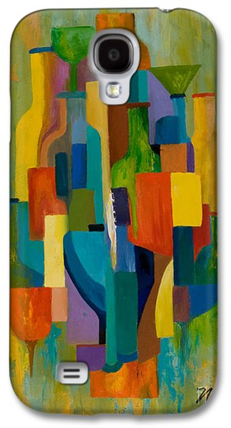Surreal Geometric Galaxy S4 Cases - Bottles and Glasses Galaxy S4 Case by Larry Martin